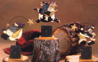 WW2243 3 Assorted Christmas figures riding animals on bases